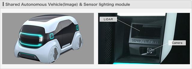 Shared Autonomous Vehicle(Image) & Sensor lighting module
